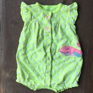 Neon Polka Dotted Romper 🐳